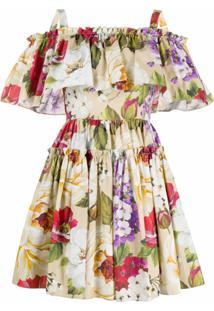 Dolce & Gabbana Vestido Com Estampa Floral - Neutro