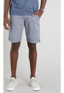 Bermuda Masculina Com Bolsos Azul
