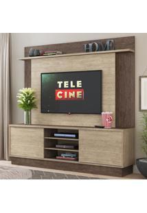 Estante Para Tv 180 Cm 02 Portas De Correr Es230 Freijó/Acácia - Decibal Móveis