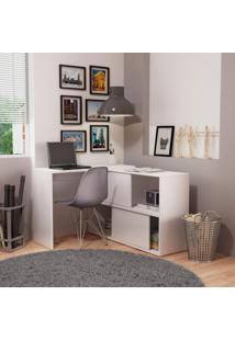 Mesa Para Computador 2 Portas Correr Bc 44 Performa Brv Móveis Branco