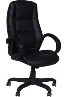 Cadeira Office Executiva Alta Giratória- Preta- 108Xor Design