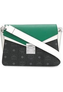 Mcm Bolsa Tiracolo Color Block - Verde