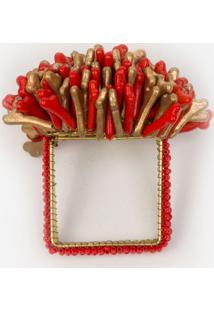 Argola Porta Guardanapo Le Lis Blanc Casa Red Vermelho - Argola Red-Vermelho Escuro-Un