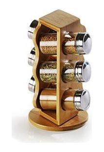 Porta Condimentos Em Bambu Salzburgo 7 Peças Welf