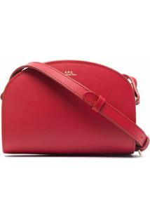 A.P.C. Bolsa Tiracolo Demi-Lune Com Logo - Vermelho