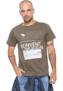 Camiseta Fiveblu Manga Curta Revive Cinza