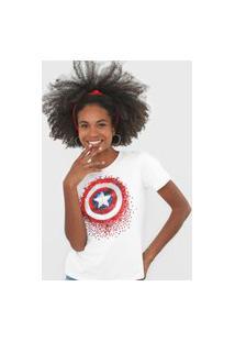 Blusa Cativa Marvel Capitão América Branca