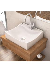 Cuba De Apoio Para Banheiro Compace Lunna Q44W Retangular Branca