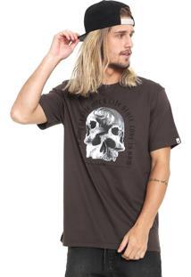 Camiseta Mcd Skull Marrom