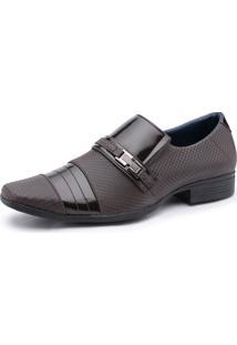 Sapato Social Calçados Ruggero Textura Café