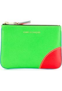 Comme Des Garçons Wallet Carteira Color Block - Verde