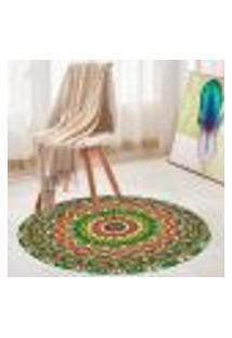 Tapete Redondo Wevans Mandala Green 84Cm