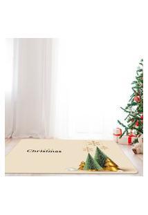 Tapete De Natal Para Sala Merry Christmas Premium Único