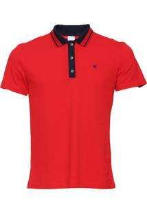 Camisa Polo Malwee Reta Vermelha