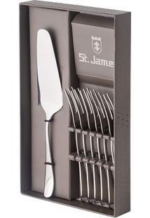 Jogo Para Bolo Serenity- Inox- 7Pçs- St Jamesst James