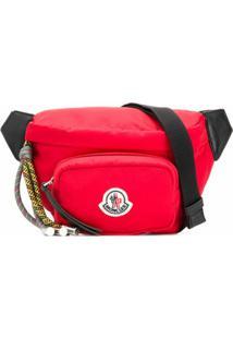 Moncler Pochete Com Patch De Logo - Vermelho