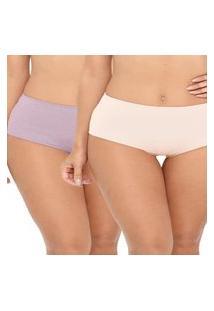 Kit/2 Calcinha Love Secret 819.304 Nude/Rosa Retro