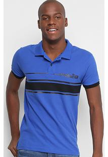 Camisa Polo Rg 518 Estampada Faixas Masculina - Masculino