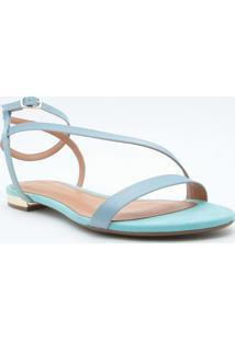 Sandã¡Lia Rasteira Tiras- Azul Clarocecconello