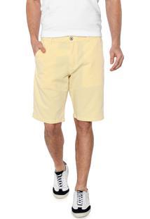 Bermuda Sarja Aramis Chino Textura Amarela