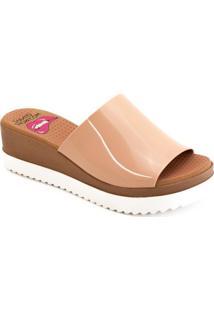 Tamanco Anabela Plástico Paçoca Sapato Show K3030400238