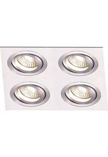 Spot Embutir De Alumínio Ecco 5,8Cmx17Cmx17Cm Bella Iluminação - Caixa Com 3 Unidade - Alumínio