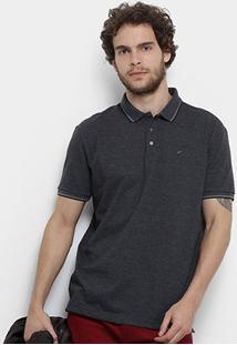 Camisa Polo Ellus Frisos Classic Masculina - Masculino-Chumbo