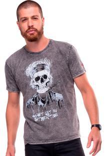 Camiseta Estonada Skull Richards Liverpool Preto