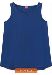 Blusa Azul Escuro Mullet Básica