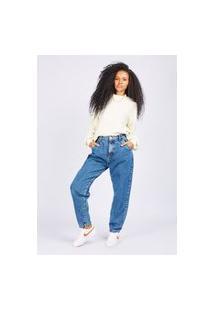 Calça Jeans Slouchy Blue Escuro Gang Feminina