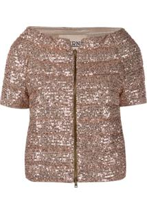 Herno Sequin-Embroidered Puffer Jacket - Dourado
