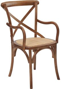 Cadeira Com Braços Katrina Betula -Rivatti - Marrom