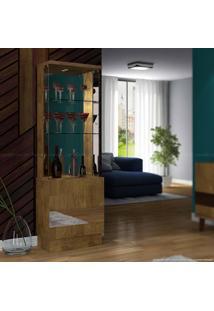 Cristaleira Com Espelho 2 Portas New Vina Com Led 100% Mdf Demolição - Dj Móveis