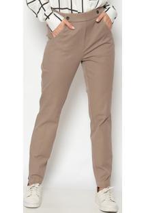 Calça Skinny Com Bolsos - Marrom Clarodudalina