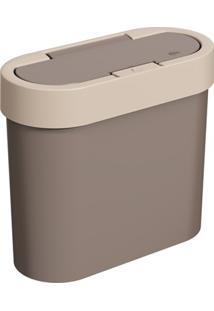 Lixeira Automática Flat 2,8 Litros Light E Warm Gray