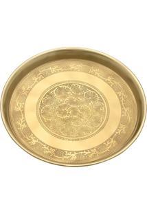 Bandeja Decorativa Abstrata- Dourada- 9Xø36Cmmabruk