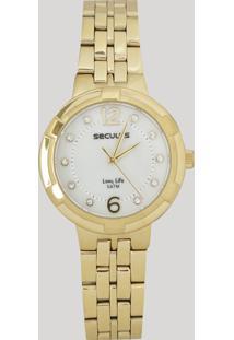 Relógio Analógico Seculus Feminino - 23569Lpsvda1 Dourado