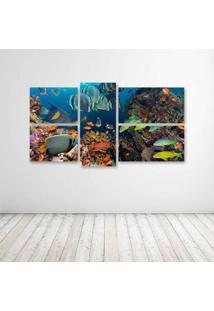 Quadro Decorativo - Ocean (2) - Composto De 5 Quadros - Multicolorido - Dafiti