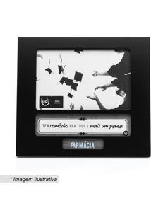 Porta Retrato Profissão Farmácia- Preto & Branco- Taludi