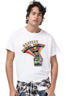 Camiseta Bandup Raglan Premium The Big Bang Theory Poster - Masculino-Branco