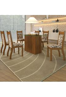 Mesa De Jantar 6 Lugares Ambar Cedro/Brownie - Viero Móveis