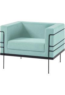 Poltrona Le Corbusier Azul Claro Base Preta - 50168 - Sun House