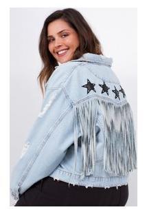 ba9e7071f03a5 Jaqueta Grande Jeans feminina