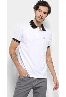 Camisa Polo Bulldog Fish Friso Masculina - Masculino-Branco