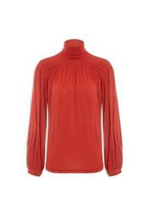 Blusa Feminina Gola Alta Wool - Vermelho