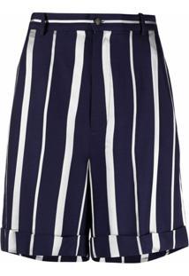 Polo Ralph Lauren Bermuda Com Estampa De Listras - Azul