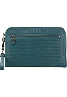Bottega Veneta Woven Clutch Bag - Azul