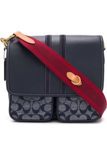 Coach Monogram Pattern Shoulder Bag - Azul