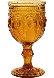 Taça De Vinho Jewelry Âmbar