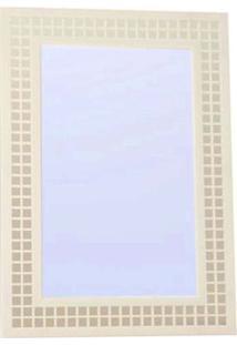 Espelho Pastilha 70X50Cm Branco Formacril
